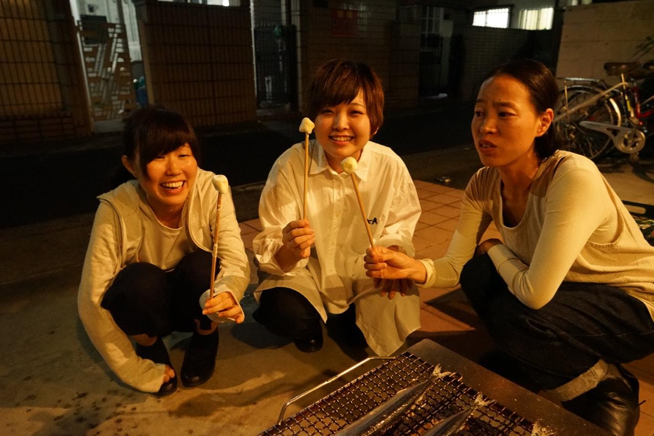 縫製工場 秋刀魚パーティー
